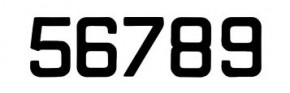Segelnummern, 300 mm Schwarz