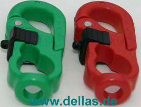 NAB Schäkel für Spi-Schoten 70 mm rot/grün