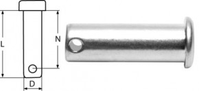 Steckbolzen Ø 5 mm / 18 mm