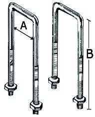 U-Bügel für bewegliche oder feste Mittelrollen 70 mm, 1 Stück