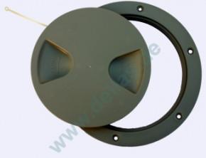 Inspektionsdeckel, Grau RAL7042 102 mm