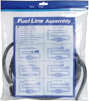 Treibstoffschlauch mit Pumpball für Mercury/Mercruiser mit 2 Anschlüssen