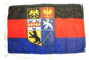 Flagge Ostfriesland mit Wappen