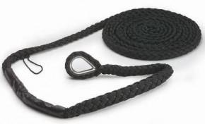 Extension Mooring - Festmacher mit Ruckdämpfung und Kausch - 6 m lang 12 - 16 mm