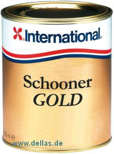International Schooner Gold Bootslack klar