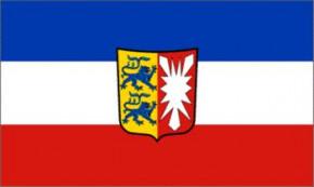 Flagge Schleswig-Holstein mit Wappen