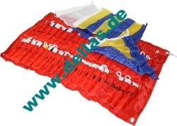 Signalflaggensatz, Flaggenlänge