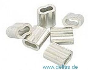 Kupfer-Presshülsen, oval, für 2,5 mm Draht