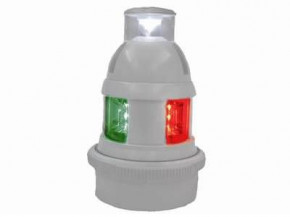 Aqua Signal LED Dreifarben-/Ankerlaterne schwarzes Gehäuse, Serie 32