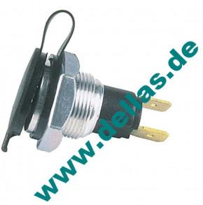 12V Normsteckdose 15A 2-polig Spritzwasserdicht.
