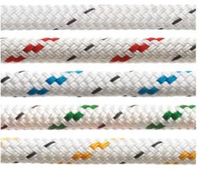 Fertiges Polyesterfall mit Schäkel, 10 mm, 30 m lang Rot