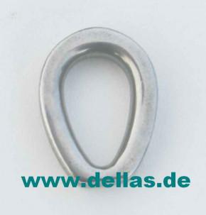 Kausche, schwere,geschlossene Form 3 - 6 mm