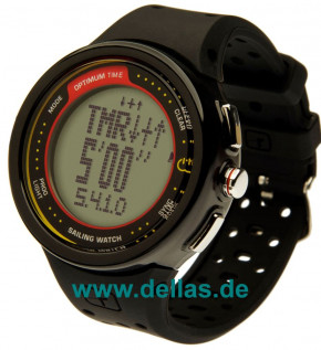 Regattauhr OPTIMUM Time OS 1231r Schwarz (Batterie aufladbar)
