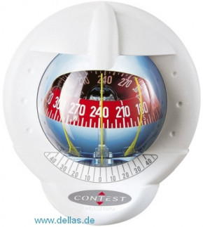 Kompass Plastimo Contest 101 (Modell für geneigtes Schott) Weiß / Rote Rose