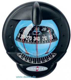 Kompass Plastimo Contest 101 (Modell für geneigtes Schott) Schwarz / Schwarz/weiße Rose