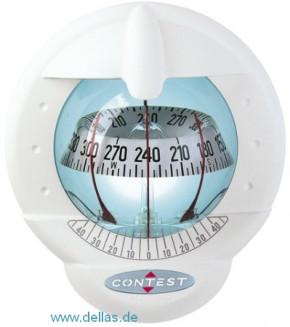 Kompass Plastimo Contest 101 (Modell für geneigtes Schott) Weiß / Schwarz/weiße Rose