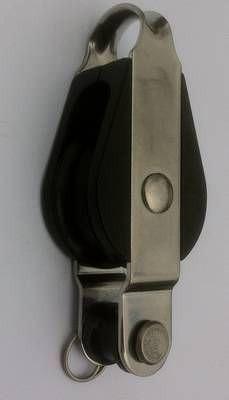 28 mm Gleitlagerblock, einfach mit Hundsfott und Bügel