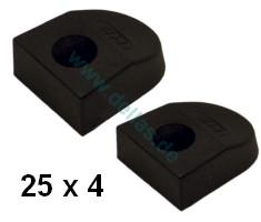 SPRENGER Endstücke für 25 x 4 mm T-Schiene - Paar -