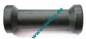 Kielrolle Gummi Schwarz 200 mm flach