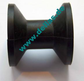 Bugrolle Gummi, Schwarz, 75 mm