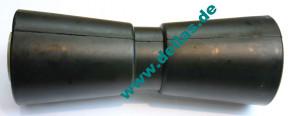 V-Kielrolle 250 mm Gummi schwarz