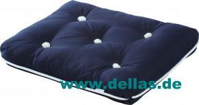 Sitzkissen Kapok Kissen einfach, Premium Qualität Navy