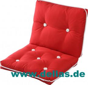 Sitzkissen Kapok Kissen doppelt, versch. Farben - Premium Qualität