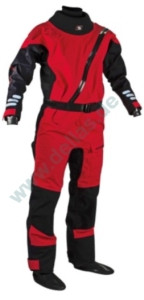 Sandiline Junior Trockenanzug RISING STAR Front Zip Drysuit Rot