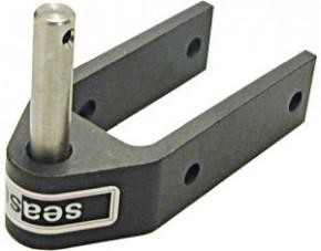 SeaSure Aluminium Ruderbeschlag, kurz, Pin 10 mm