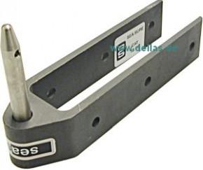 SeaSure Aluminium Ruderbeschlag, lang, Pin 10 mm
