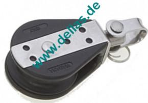 Einzelblock mit Wirbel 10mm Schot 38mm Scheibe, Kugellager