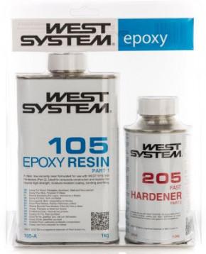 West System 105 K Epoxy Harz und schneller Härter 205